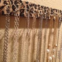 Cheetah Print Wall Mount, Hanging Necklace and Jewelry Holder, Organizer, & Display