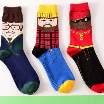 Foot Men - Funny Crew Socks Funny Crazy Cool Novelty Cute Fun Funky Colorful