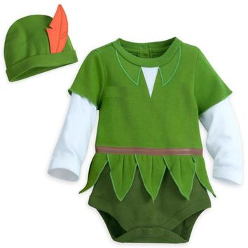 Disney Authentic Peter Pan Baby Costume Outfit & Hat Boys 3 6 9 12 18 24 Months
