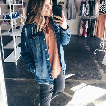 Cassie Oversized Boyfriend Denim Jacket
