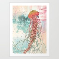 Jellyfish Art Print by Mat Miller