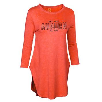 Official NCAA Auburn University Tigers Aubie Tiger WAR EAGLE! Women's Soft and Cozy Snit Tunic Sweatshirt Dress