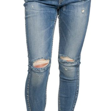 Silver Jean Slouchy Ankle Skinny - Medium Wash