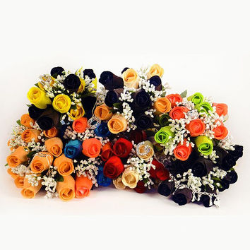 Create Your Own Dozen Bouquet! (You pick the 2 colors you want!)