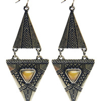 Double Tribal Linear Earrings | Wet Seal