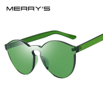 Cat Eye Shades Luxury Sun glasses Integrated Eyewear Candy Color