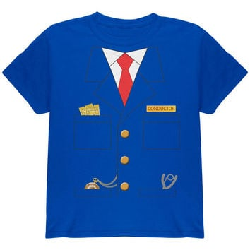 Halloween Train Conductor Costume Royal Youth T-Shirt