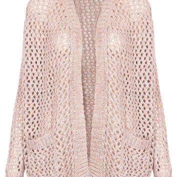 Knitted Shimmer Mesh Cardi - New In This Week - New In - Topshop USA