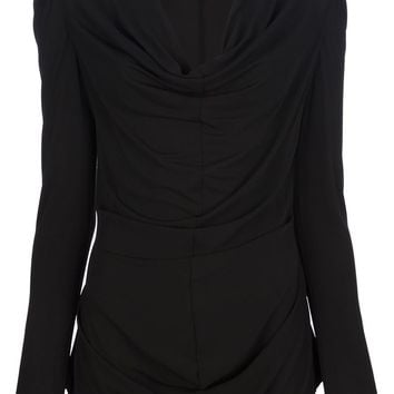 Alexander Mcqueen Draped Cowl Neck Top