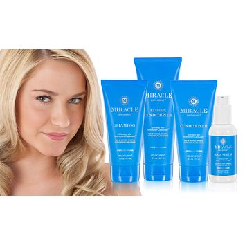 Miracle Anti-Aging Hair Care 4 pack incl Shampoo, 2 conditioners + Leave in Hair & Scalp Serum
