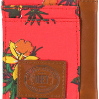 Obey Tourist Red ID Wallet