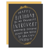 Introvert Birthday Card