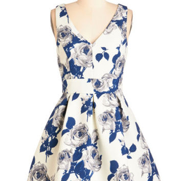 ModCloth Mid-length Sleeveless Fit & Flare Kiss from a Prose Dress