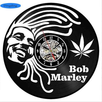 Bob Marley Vinyl Record Wall Clock - CannaClocks