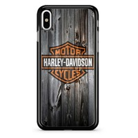 Harley Davidson Logo Wood iPhone X Case
