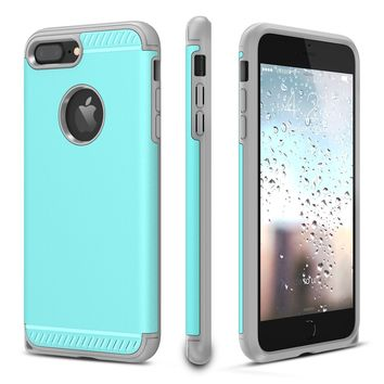 iPhone 7 Plus Case, CHTech iPhone 8 Plus Case Double Layer Shockproof Heavy Duty Protection Armor Case for Apple 5.5'' iPhone 7 Plus / iPhone 8 Plus [Mint]