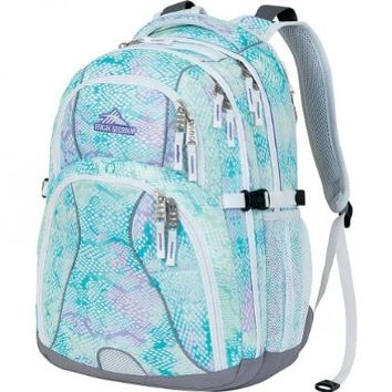 High Sierra Swerve Backpack, Snake Dye White, 19x13x7.75-Inch