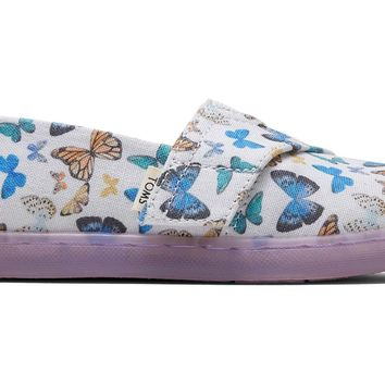 TOMS - Tiny Classics Radial Butterfly Slip-Ons