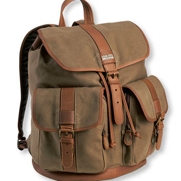 Maine Guide Rucksack, Waxed Cotton: Maine Guide Collection | Free Shipping at L.L.Bean