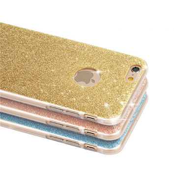 NEW Luxury Flash Glitter Tpu Case For Apple Iphone 7 7 plus Case Silicone Soft Crystal Phone Cases For Iphone 7 cover