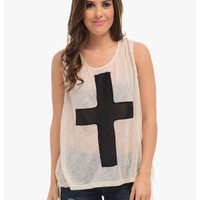 Beige Cross My Heart Sleeveless Asymmetrical Top | $10 | Cheap Trendy Blouses Chic Discount Fashion