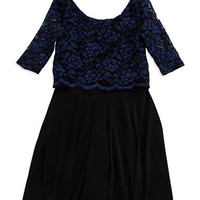 Sally Miller Girls 7-16 Lace Popover Dress