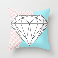 Diamond and Geometric Throw Pillow by hhprint | Society6