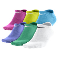 Nike Dri-FIT Cotton No Show Kids' Socks (Medium/6 Pair) Size M (White)
