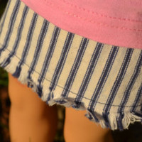 """American Girl Doll Clothes, 18"""" Doll Clothes- Stripped Denim Skirt - Edit Listing - Etsy"""