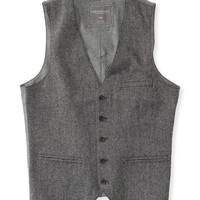 Aeropostale Mens Tweed Vest - Gray,