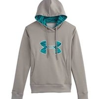 Under Armour Big Logo Applique Hoodie for Women in Heather Grey 1248640-050