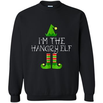 I am The Hangry Elf Matching Family Group Christmas  Printed Crewneck Pullover Sweatshirt
