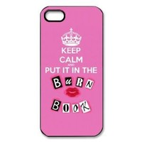 Keep Calm and Put It in The Burn Book - Vazza iPhone 5 Protective Hard Case - Black