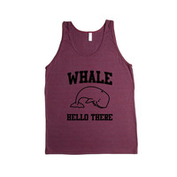 Whale Hello There Whales Ocean Animal Animals Greeting Mammals Mammal Pun Puns Play On Words Funny SGAL2 Men's Tank