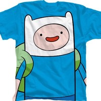 Bioworld 6-14 Adventure Time With Finn T-Shirt BLUE Large 14-16