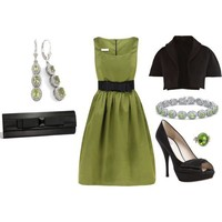Chartreuse Cocktail Dress Outfit (New Years) - Polyvore