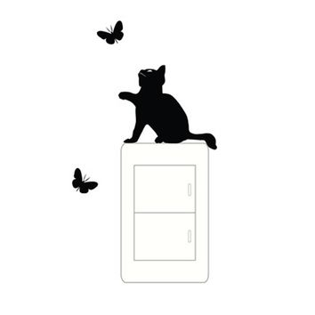 wall switch stickers cat vinyl switch stickers decal Wall Stickers for Kids