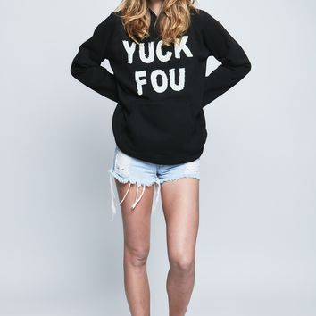 Yuck Fou Sweatshirt in Black