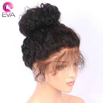 "Eva Hair Pre Plucked Full Lace Human Hair Wigs With Baby Hair 8""-26"" Water Wave Brazilian Remy Hair Full Lace Wig Bleached Knots"