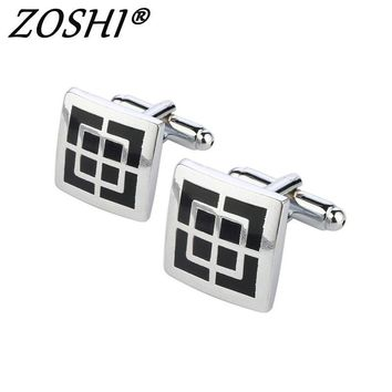 ZOSHI Fashion High Quality Men's Shirt Cufflinks For Wedding Party Luxury Copper Mens Cuff Links Buttons Business Gifts For Male