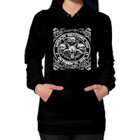 SATAN I WATCHING YOU Hoodie (on woman)