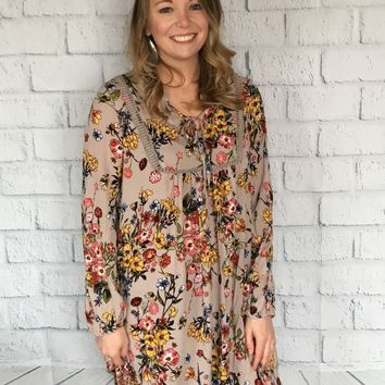 Floral Peasant Dress