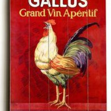 Wood Sign : Gallus Vintage