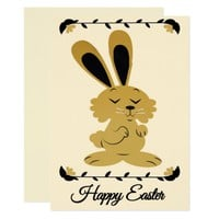 Happy Easter Brown Bunny card