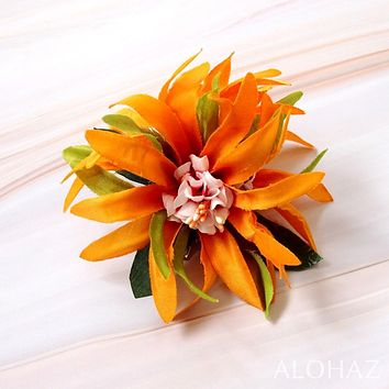 Yellow Aster Hawaiian Flower Hair Clip