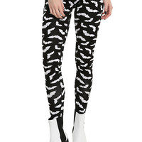 Blackheart Black & White Bat Leggings