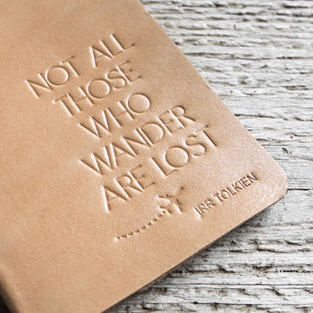 Natural Not All Those Who Wander Passport Holder