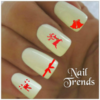 Christmas Nail Decal 20 Vinyl Stickers Nail Art