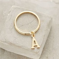 Monogram Pendant Stacking Ring by Anthropologie in Assorted Size: