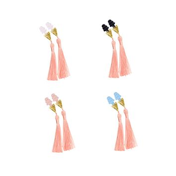 BREAKFAST AT TIFFANY'S INSPIRED BLUSH TASSEL SLEEPING EARPLUGS